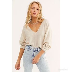NWT Free People Cashmere Solitaire Creme Sweater L
